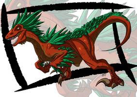 Commission: Utahraptor by KukuruyoArt