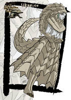 Commission: Ukanlos monster girl by KukuruyoArt