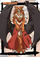 Manticore monster girl by KukuruyoArt