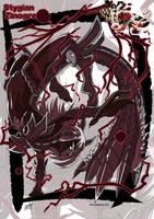 Stygian Zinogre monster girl by KukuruyoArt