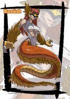 Basilik monster girl by KukuruyoArt