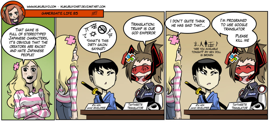 gamergate life 85 by kukuruyoart on deviantart