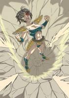 Commission: Dragon ball saiyan by KukuruyoArt
