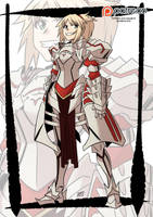 Fate apocrypha: Mordred by KukuruyoArt