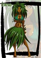 Dryad monster girl by KukuruyoArt