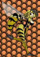 Wasp monster girl by KukuruyoArt