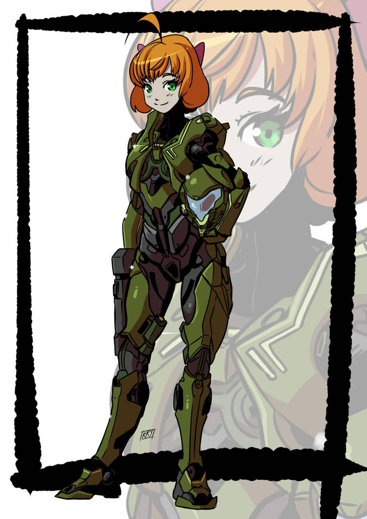 Girl in armor by KukuruyoArt