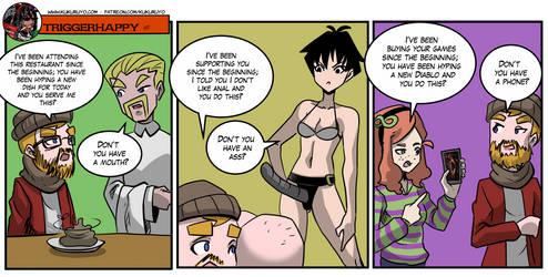 Triggerhappy: Gamer entitlement by KukuruyoArt
