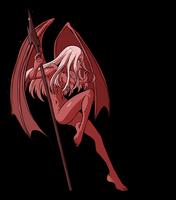 Mephit monster girl by KukuruyoArt