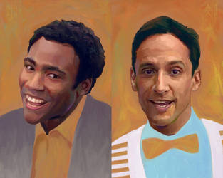 TV Duo 5 - Troy / Abed by astoralexander