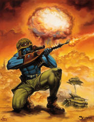 Rogue Trooper by scarrart