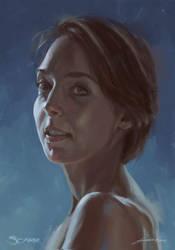 Latest Portrait by scarrart
