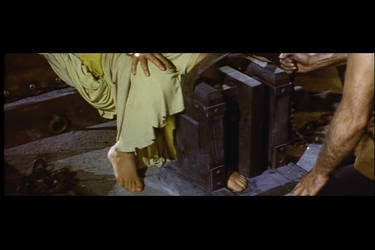 Gina Lollobrigida feet tortured with the boot by devilinquisitor
