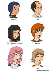 Meet the Cafe Crew by kessy-athena