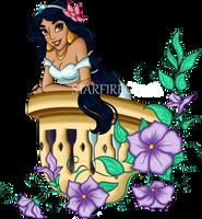 Jasmine On Her Balcony by starfiregal92