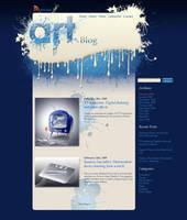Glossy Splatter web design by AlexandraF