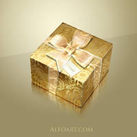 Golden foil gift box by AlexandraF
