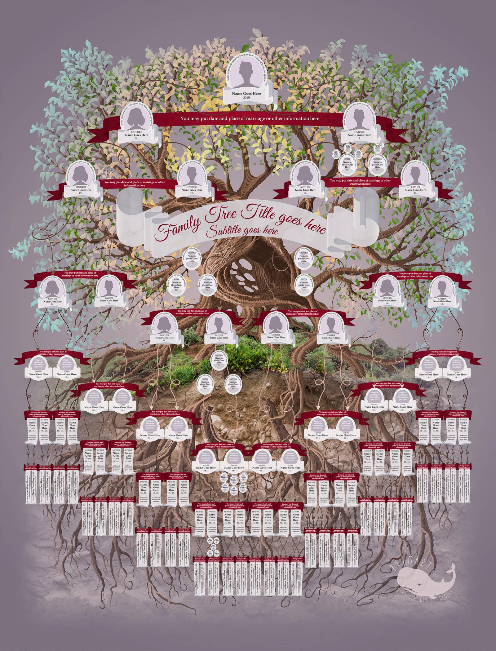 family tree template by alexandraf on deviantart