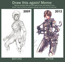 Meme: Draw This Again by Auzzymo