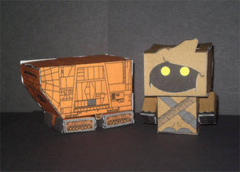 Sandcrawler and Jawa Cubee's by CyberDrone