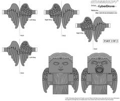 Cubee - Weeping Angel 'Wings' by CyberDrone
