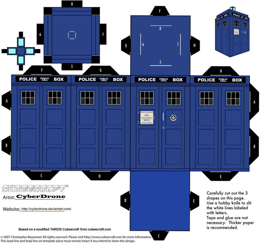 Cubee - TARDIS (11th and 12th Doctors) by CyberDrone