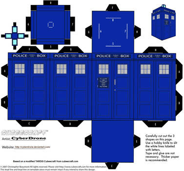 Cubee - Classic TARDIS '1980s' by CyberDrone