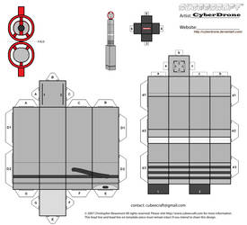 Cubee - The 5th Doctor's Sonic Screwdriver by CyberDrone