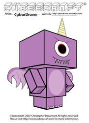 Cubeecraft - Purple People Eater by CyberDrone