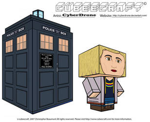Cubeecraft - 13th Doctor and TARDIS by CyberDrone