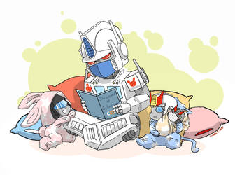 bed story time by umitaro