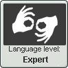 (Expert) Sign Language Level Stamp by imakocoa