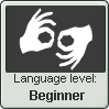 (Beginner) Sign Language Level Stamp by imakocoa
