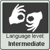 (Intermediate) Sign Language Level Stamp by imakocoa