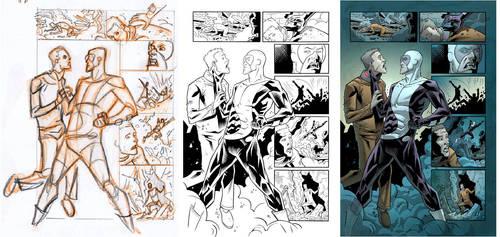 Wolf-Man 15 Page 17 Process by JasonHoward