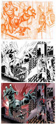 Wolf-Man 22 Page 10-11 Process by JasonHoward