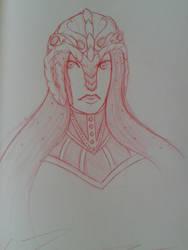 Aries headshot by DesertFiend
