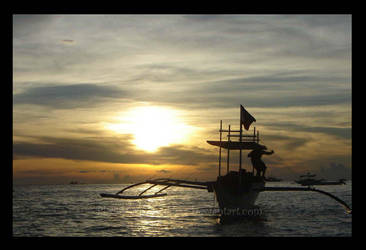 Boracay Sunset by BlackHarpyGoddess