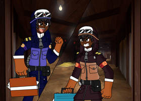 TF2 OC- RED Pilot meets his clone nemesis by Pilotking