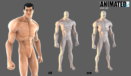 Animated Style Man Base Wip by 6and6