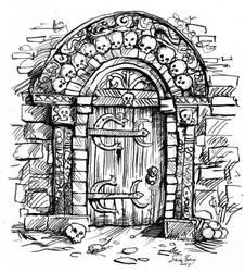 Dungeon Door - Simon Bray 300dpi jpg by Blackyinkin