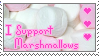 I Support Marshmallows Stamp by Fexible