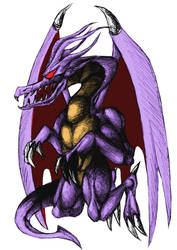 Bahamut I Concept Sketch W pen Colorised by Jameswhite89