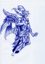 God Kefka W Pen by Jameswhite89