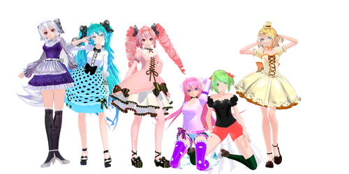 TDA Cute Models DL by StressaSan