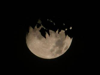 Disintegrating Moon by artoid