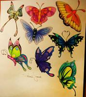 Butterflies by SabrinaFranek