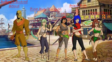 Myrine and Crew by Naga-Asura