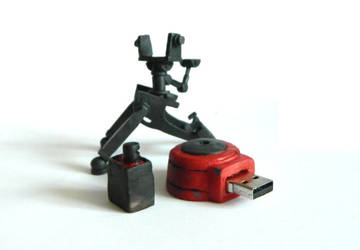 TF2 Level 1 Sentry with usb flash drive by Fonya