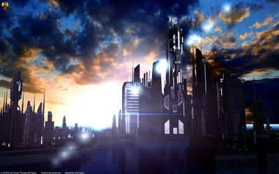 Atlantis Sunset by Euderion
